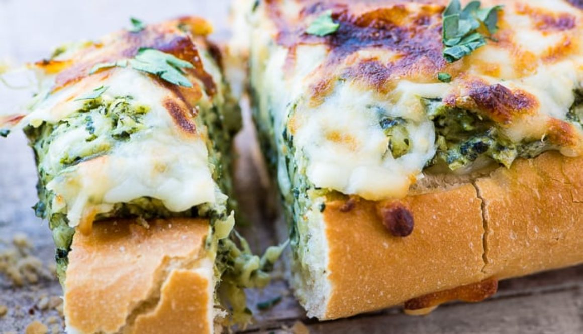 Spinach & Artichoke Dip Stuffed Bread
