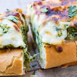 Spinach & Artichoke Dip Stuffed Bread